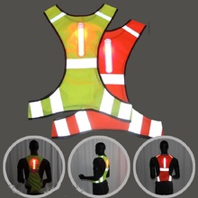 LED light Motorcycle Jacket Reflective Vest Safety High Visibility Chaleco Reflectante Moto Riding Motorsiklet Yelek