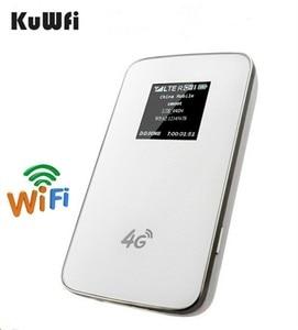 Image 2 - KuWfi débloqué 4G routeur sans fil poche LTE WiFi Modem 4100 mAh batterie externe routeur de voyage en plein air avec fente pour carte Sim