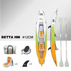 Image 4 - AQUA MARINA 2019 New Betta HM Inflatable Boat Double Persons Fishing Rowing Boat Inflatable Kayak Sports Canoe 312*83cm/412*83cm