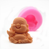 DIY Small Craft Decoration Clay Gypsum silicone mold three dimensional small Buddha carved soft silicone molds