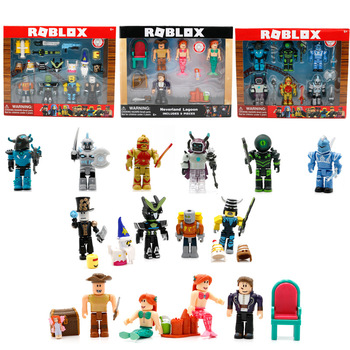2018 새로운 roblox 블록 액션 피규어 플라스틱 pvc 생일 크리스마스 선물 collectible funs toys 어린이 roblox 장난감 oyuncak