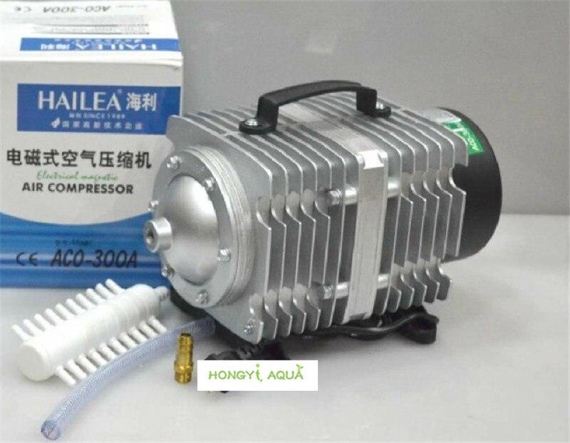 NEUE elektromagnetische luft kompressor für aquarium 250L/min 300 watt luftpumpe zunehmende sauerstoff pumpe HAILEA ACO 300A ACO 300A-in Luftpumpen und Zubehör aus Heim und Garten bei  Gruppe 1