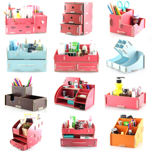 Princess Drawer Wooden Desktop Storage Box Cosmetics Jewelry Box