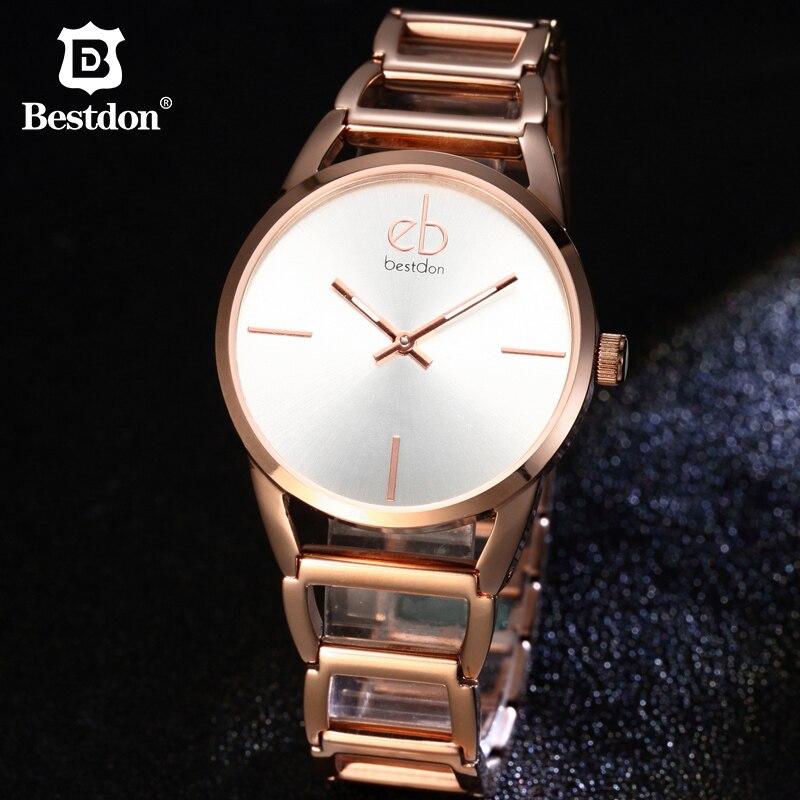 Bestdon femmes montres Quartz Bracelet montre-Bracelet dames haut tendance marque de luxe élégant or étanche femme horloge dame 2019