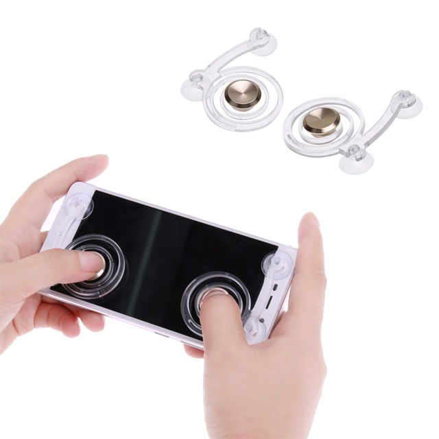 2pcs/pack Hot Type Smartphone Game Touch Screen Joysticks Mobile Phone Mini Game Joystick for Phone Tablet Arcade Games (Gold)