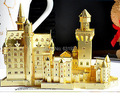 Free New Metal Assembly Miniature 3D Puzzle Model Educational toys Swan fort Metal handicraft furnishing articles birthday gift