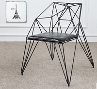 Eat Chair Diamond Hollow Out Wire Chairs Loft Design Furniture Wrought Iron Industry Designer Chairs