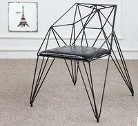 Обеденный стул алмаз выдалбливают провода стулья. Мебель в стиле лофт, дизайнерские стулья из кованого железа