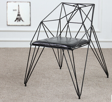 Eat Chair Diamond Hollow Out Wire Chairs. Loft Design Furniture, Wrought  Iron Industry Designer