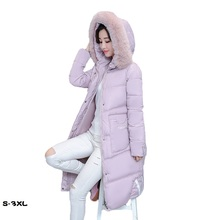 Winter jacket women new long paragraph parkas mujer 2018 thick cotton clothing feather slim casaco feminino