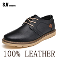 2017 New Leather Casual Shoes High Quality Men's Shoes Sapatos Business Shoe Oxford Moccasin Flats Free Shipping SV Comfort