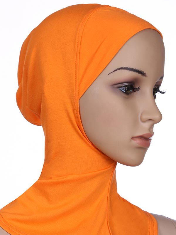 Image 5 - Soft Under Scarf Hat Cap Bone Bonnet Hijab Islamic Head Wear Neck  Full Cover Inner Muslim Lady Elastic Ninja Women Headwear CapsIslamic  Clothing