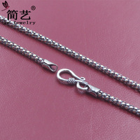 The new rough 3mm dragons scales necklace for men women 925 sterling silver jewelry silver retro couples dress