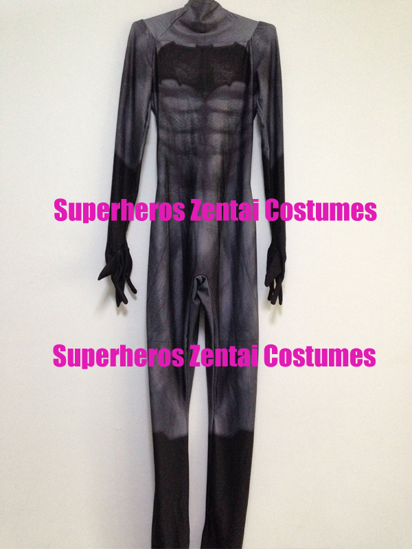 3D Print Batman DOJ batman v superman dawn of justice Zentai Bodysuit Batman Cosplay Costume Halloween Stage Lycra Catsuit