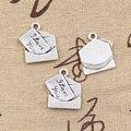 15 unids Encantos carta de amor te amo 18*16mm colgante Antiguo fit, joyería de La Vendimia de Plata Tibetana, DIY para la pulsera del collar