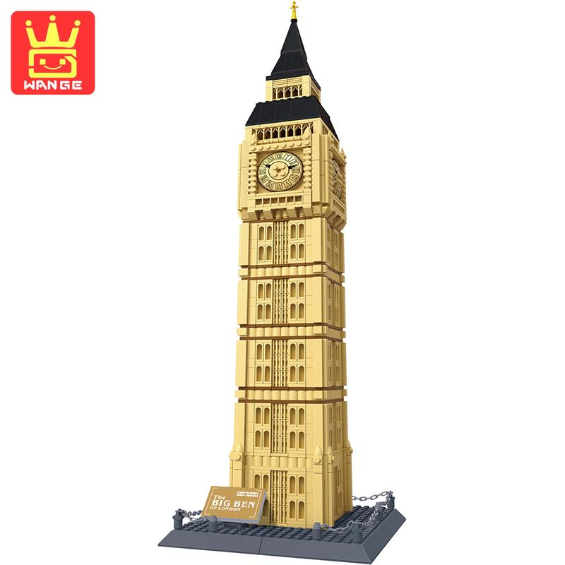 WANGE Large The Big Ben Of London Blocks Educational Building Bricks Sets Model Collectible 1642Pcs 2017 Kids DIY Toys kazi 608pcs pirates armada flagship building blocks brinquedos caribbean warship sets the black pearl compatible with bricks