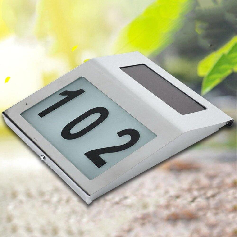 Porta da casa número números apartamento do hotel ao ar livre levou assinar Placa de Endereços doorplate placas de identificação Dígito Placa Lâmpadas de Parede Dropship