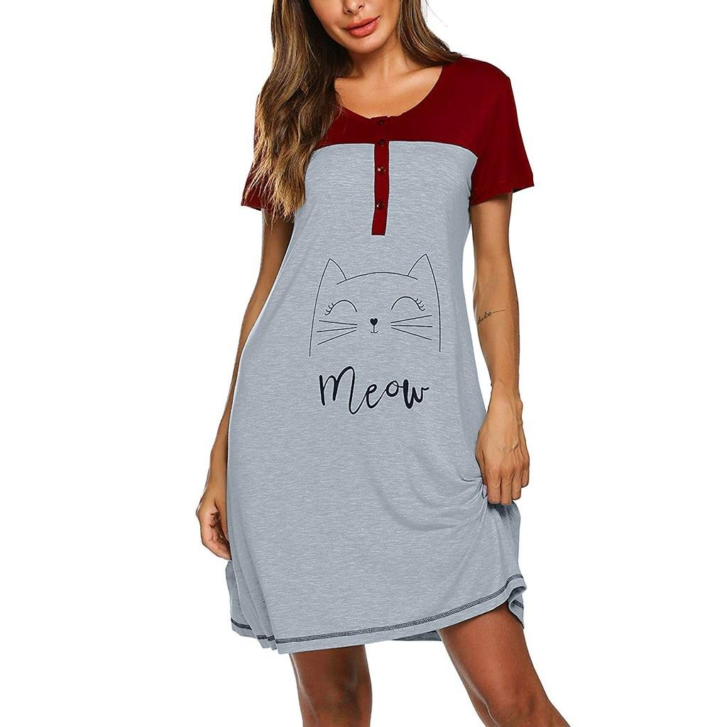 Women Maternity Dresses Short Sleeve Cute Print Nursing Nightdress Breastfeeding Pregnancy Dress Pregnant Dress Photography