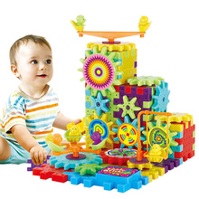 81PCS Electric Gear 3D Puzzle Toys Educational Plastic Building Bricks Toys For Kids Toys For Children Christmas Birthday Gifts new electric robot spider model toy diy educational 3d toys assembles toys kits for kids christmas birthday gifts