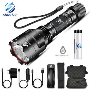 LED Flashlight Led-Torch Hiking 5-Lighting-Modes Hunting Super-Bright Indoor Camping