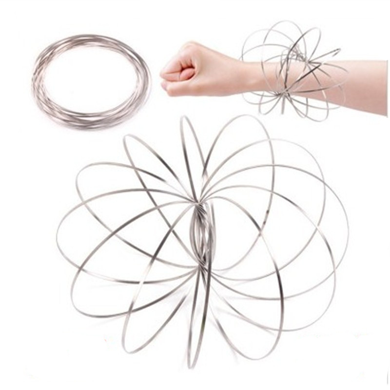 Toroflux Torofluxus Flowtoy Amazing Flow Ring Toys Magic Rings Kinetic Spring Toy Funny Outdoor Game Intelligent Toy Arm Warmers