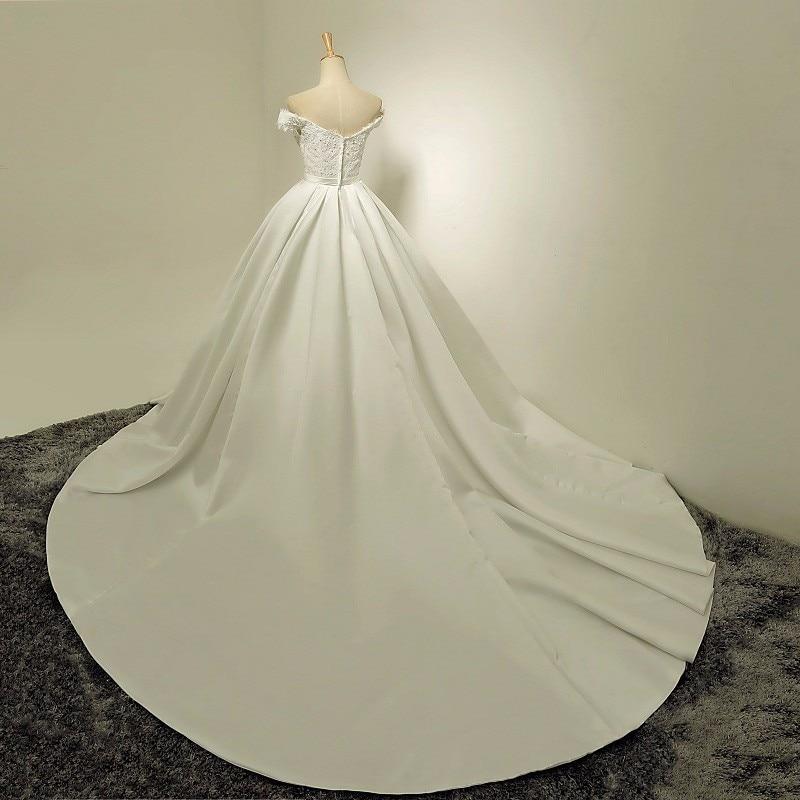 Vestidos Brancos 2017 Boho Vintage Wedding Dress Cap Sleeve Simple Satin Bride Dress Cheap Wedding Gowns China