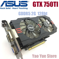 Asus GTX 750TI OC 2GB GTX750TI GTX 750TI 2G D5 DDR5 128 Bit PC Desktop Graphics