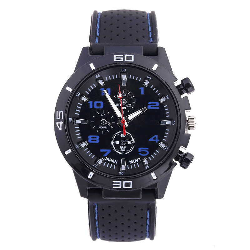 Wristwatches Quartz Army Silicone Casual High-Quality Sport Band Movement Gemius