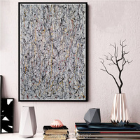 Hand Painted Jackson Pollock Abstract Oil Painting Poster Wall Art Wall Picture Oil Canvas Painting for Room Home Decor