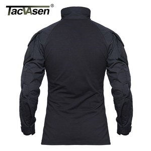 Image 4 - TACVASEN Camouflage T shirts Men Army Combat Tactical T Shirt Male Airsoft Military Clothing Long Sleeve Cotton Assault T Shirts
