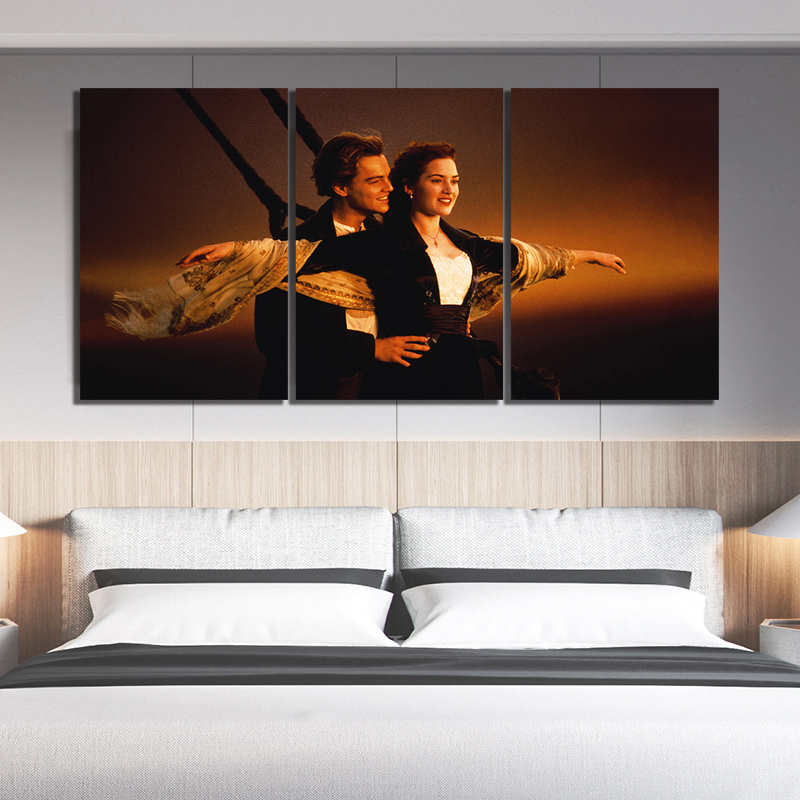 Titanic Romantic Movie Picture Print On Framed Canvas Wall Art Home Decoration