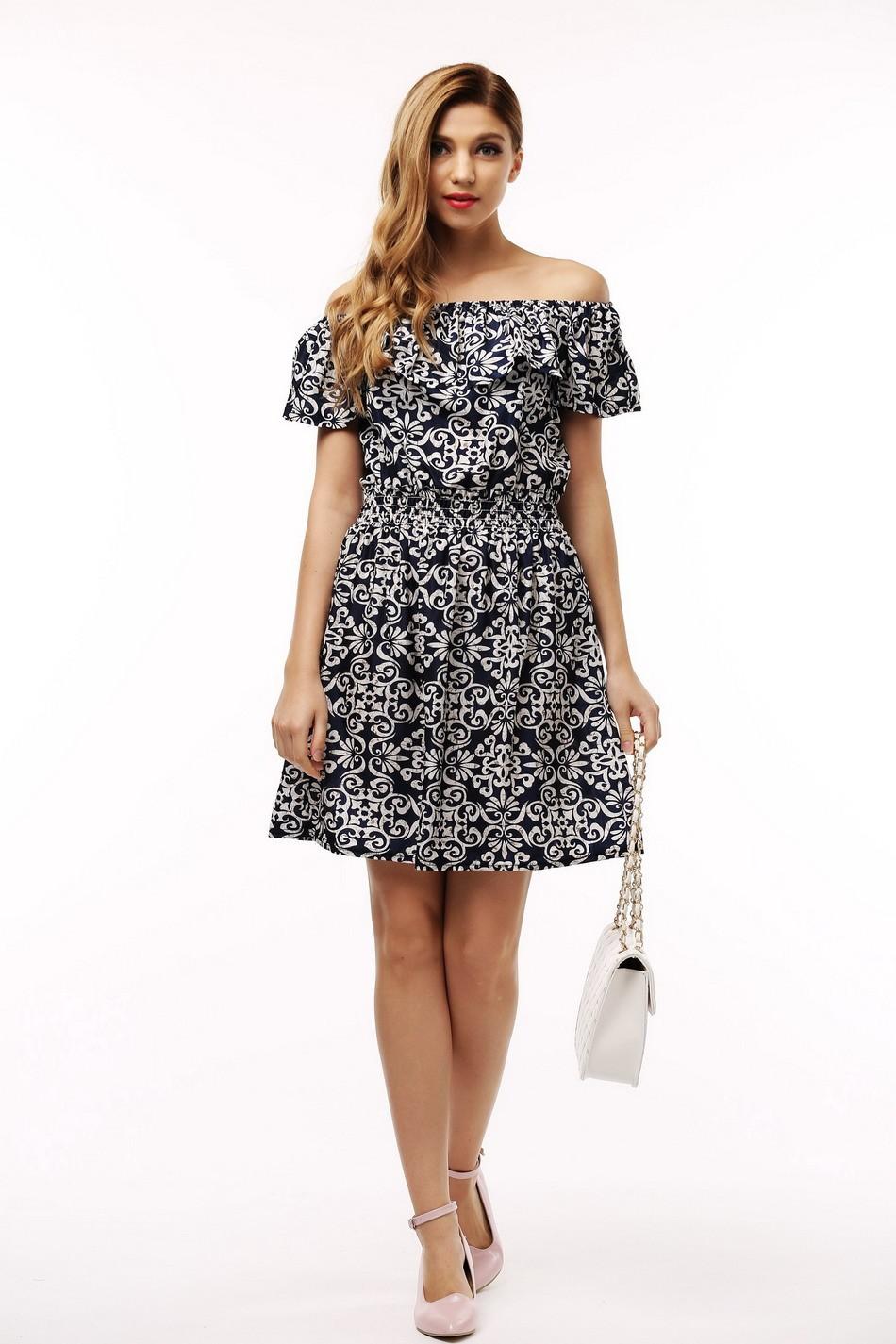 2017 fashion nowa wiosna lato plus size odzież kobiet floral print wzór sukienki na co dzień vestidos wc0472 11