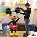 Mickey Mouse Minnie Mouse Balões folha crianças Brinquedos Fontes do Partido de Aniversário enorme Mickey balões decoração Do Casamento Frete grátis