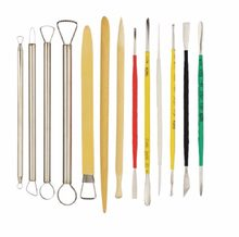 13pcs/set Assorted Sculpture Sculpting Crafts Polymer Clay Pottery Ceramics Sculpting Modeling Tools(China)