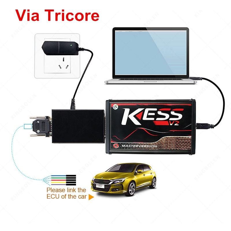 HTB1BA1cLzDpK1RjSZFrq6y78VXav V2.47 Online EU Red KESS V2 5.017 Full Master OBD2 Manager Tuning KESS V5.017 4 LED KTAG V7.020 BDM Frame K-TAG 7.020 ECU Chip