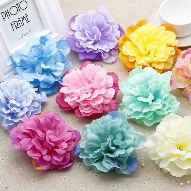 Free Shipping 10cm Large Silk Flowers Peony Flower Heads China