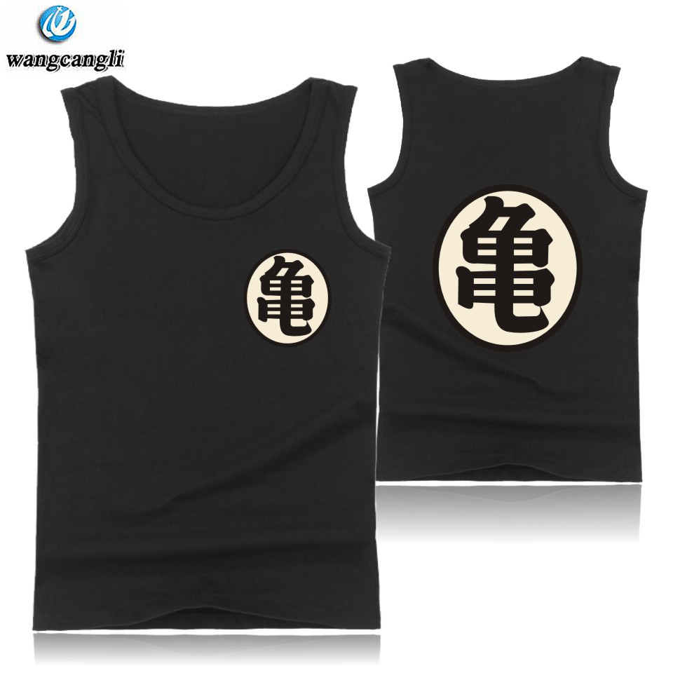 Dragon Ball Z fashion   tank     tops   oversize summer vest Kid Goku cosplay bodybuilding shirt funny cotton fitness   tank     top   men