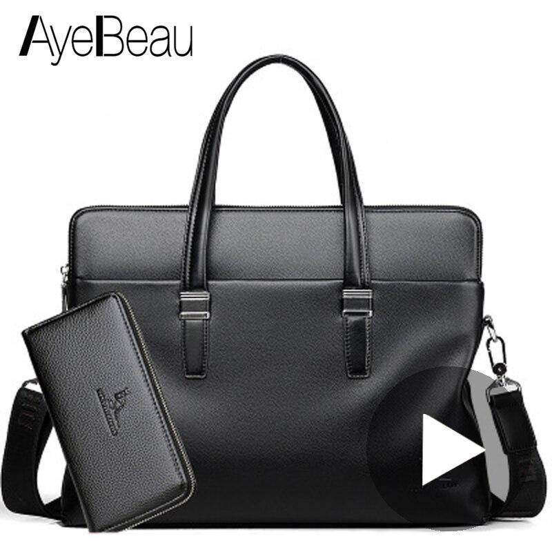 แบบพกพาสำนักงานธุรกิจของแท้หนังชาย Messenger กระเป๋าผู้ชายกระเป๋าเอกสารสำหรับเอกสารคอมพิวเตอร์แล็ปท็อปกระเป๋าถือไหล่-ใน กระเป๋าเอกสาร จาก สัมภาระและกระเป๋า บน AliExpress - 11.11_สิบเอ็ด สิบเอ็ดวันคนโสด 1