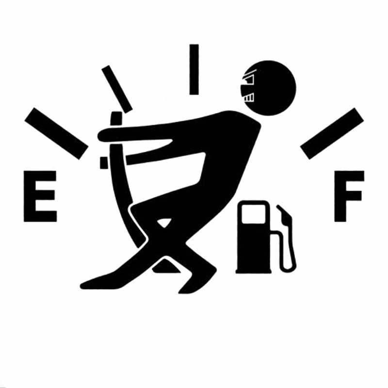12.7 Cm * 9.2 Cm Tinggi Konsumsi Gas Stiker Fuel Gage Kosong Stiker Lucu Vinyl JDM Mobil Stiker Mobil Styling hitam Sliver C8-0821