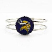 Newest football sports team Minnesota Vikings  floating charms alloy silver bracelet for man woman bracelets jewelry