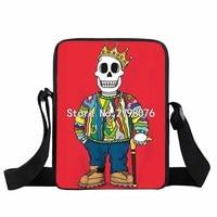 Punk Skull Cartoon Girls Mini Messenger Bag Women Handbags Rock Hip Hop Crossbody Bags Ladies Book
