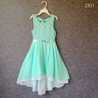 Summer Girl Dress Princess Rhinestone Belt Hollow Lace Chiffon Party Dresses For Girls Clothes Size 7