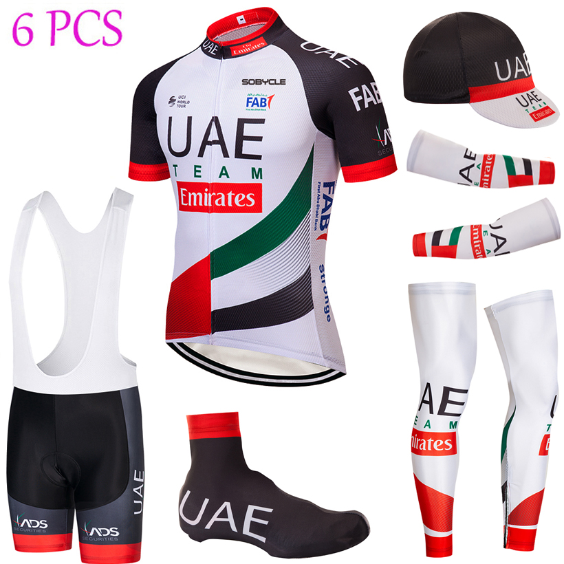 2019 Tour Cycling Full set UAE Bike jersey Breathable Men Ropa Ciclismo Cycling Jerseys 9D bike shorts and sleeve warmers2019 Tour Cycling Full set UAE Bike jersey Breathable Men Ropa Ciclismo Cycling Jerseys 9D bike shorts and sleeve warmers