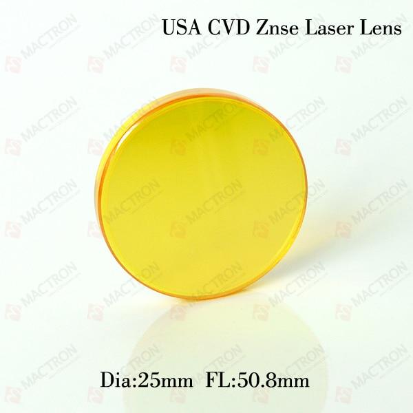 Dia 1.1 Best Quality USA  CO2  Laser Focusing Lens,FL 2, ET3.5 Using For 300w CO2 Laser Tube usa znse co2 laser focus lens dia 25 4mm fl38 1mm for cnc cutting machine