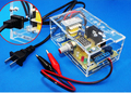 Обновленная версия DIY LM317 Регулируется Напряжение Питания Платы Обучения Комплект с case учиться комплект бесплатная доставка