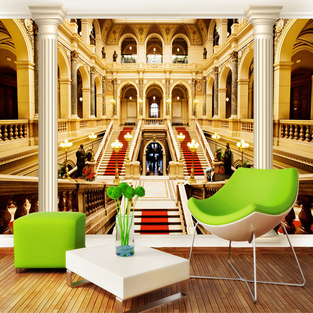 European Style Architecture Roman Column 3D TV Background Mural Wallpaper Living Room Bedroom Wall Mural Wallpaper Wall Covering geography of south africa mural wallpaper 3d in european style living room tv wall background 3d wallpapers for walls