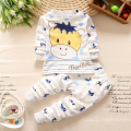 2016 New Baby Boy Cotton Clothes Children Clothes Sweet White Dot Kids Girls Love Nightwear Pajamas Sleepwear Suit Monkey bear