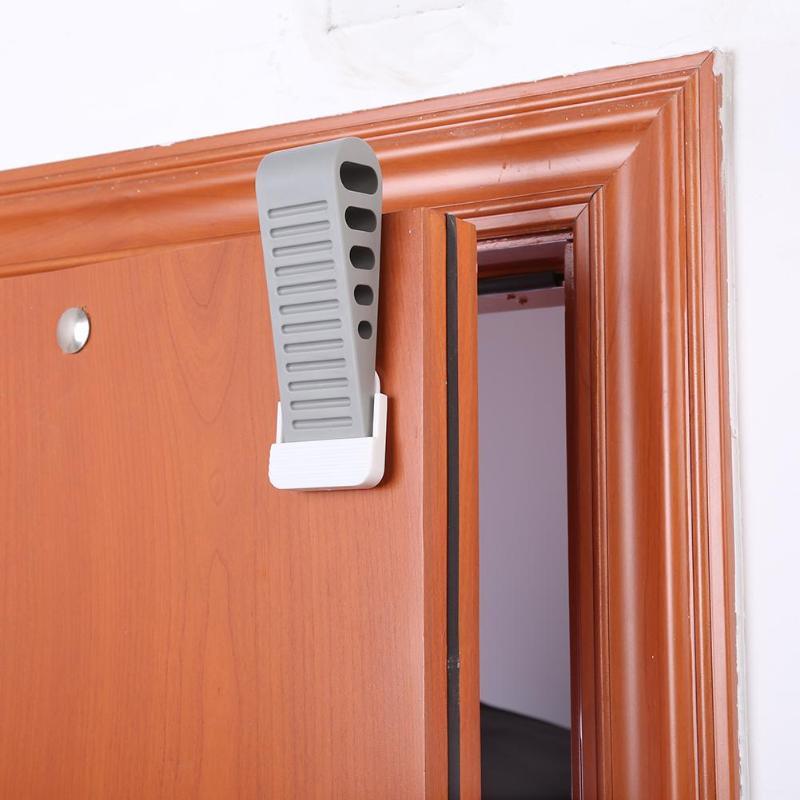 Kids Door Stopper Easy To Install Door Hardware Door Wedge For Floor Surfaces Silicone Baby Safety Edge Corner Guards Protection