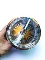 6 pcs/lot Dimmable Haute Puissance 15 W COB LED Ampoule Lumière AR111 QR111 G53 ES111 10 W LED Spot Light AC110V/220 V/DC12V Livraison gratuite