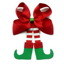 Christmas style girls hair accessories Boutique Hair bows with Hairpin outfit match clothes cheer